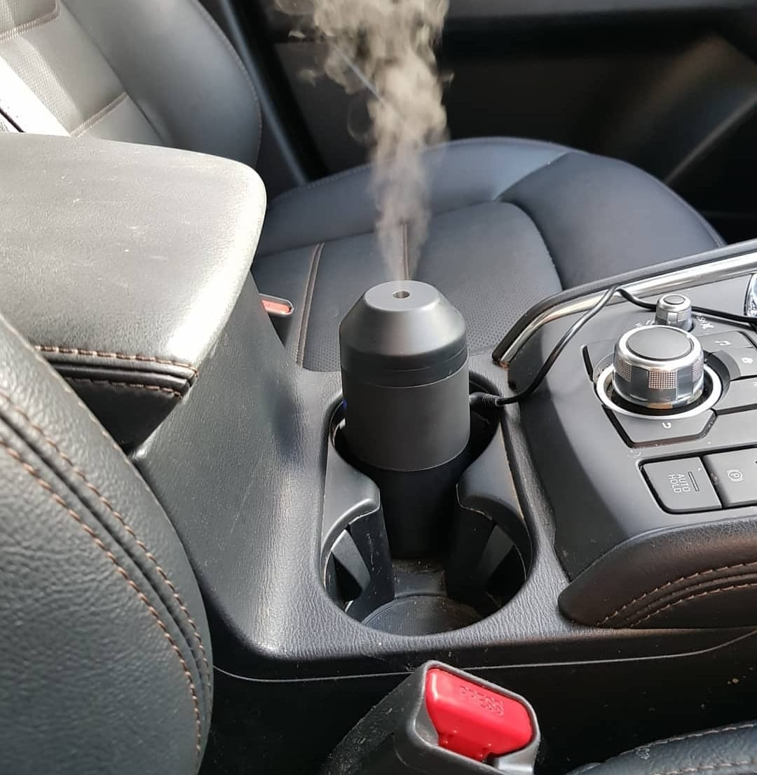 Lively Living Aroma Move Diffuser Inside Vehicle Cup Holder