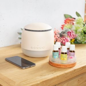 Lively Living Aroma Chill Diffuser WIth Bluetooth Connection to Mobile Device