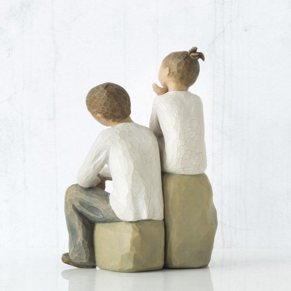 Brother and Sister Willow Tree Figurine WT26187 Back View