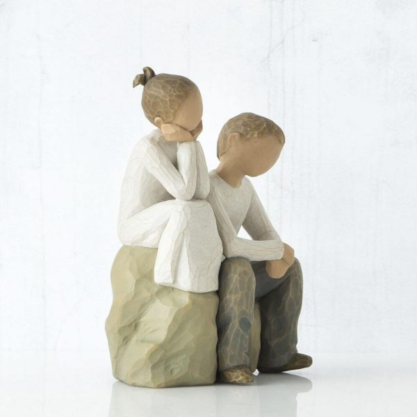 Brother and Sister Willow Tree Figurine WT26187 Left View