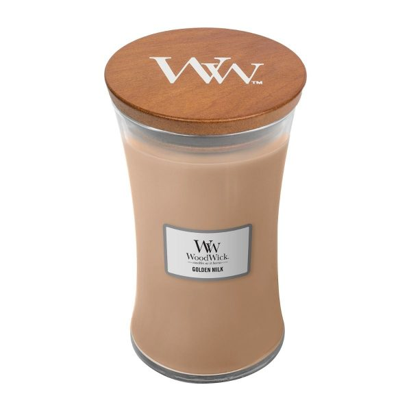 Golden Milk Woodwick Soy Candle WW1647924