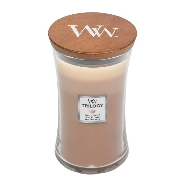 Golden Treats Trilogy Woodwick Soy Candle WW1647929