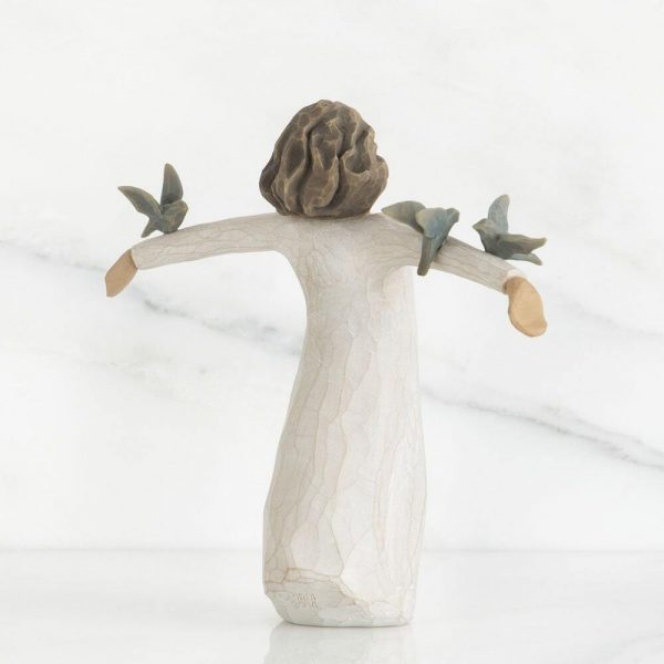 Happiness Willow Tree Figurine WT26130 Back View