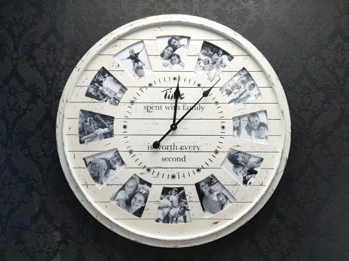 Time Frames Wall Clock White