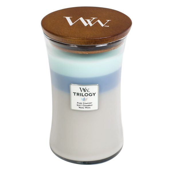 Woodwick Soy Candle Woven Comforts Trilogy WW93971