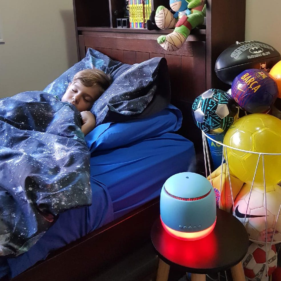 Lively Living Aroma Snooze Review With Boy Sleeping