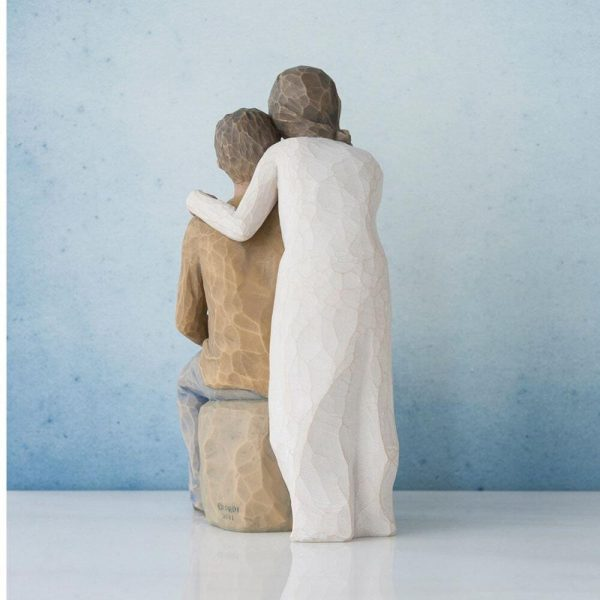 Willow Tree You And Me Figurine Dark Skin Tone 27345 Back View