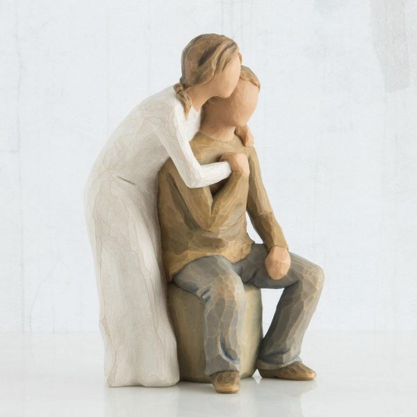 Willow Tree You And Me Figurine Pale Skin Tone WT26439 Left View