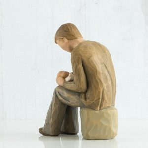 Willow Tree New Dad Figurine Back View