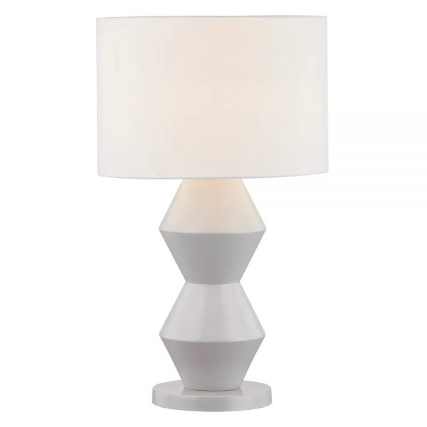 Abstract Table Lamp Grey Light On