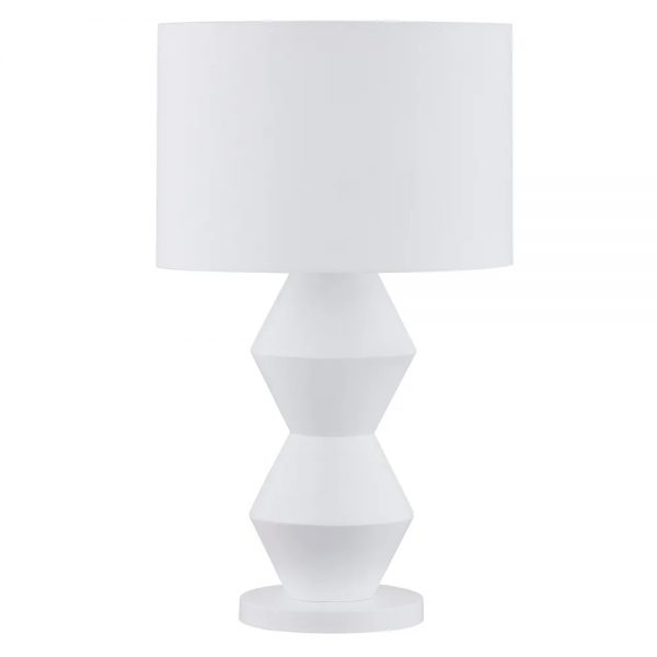 Abstract Table Lamp White Light Off