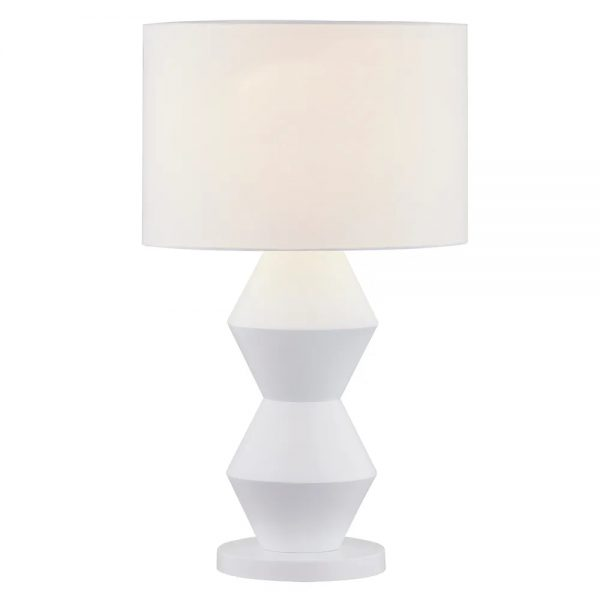 Abstract Table Lamp White Light On