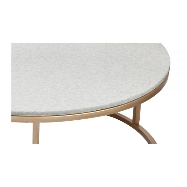 Chloe Nesting Gold and Marble Coffee Table 31730 Close Up View