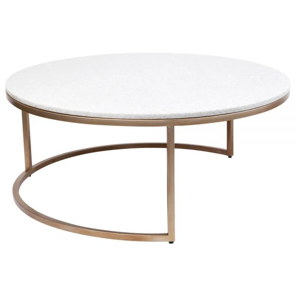 Chloe Nesting Gold and Marble Coffee Table 31730 Bottom Table