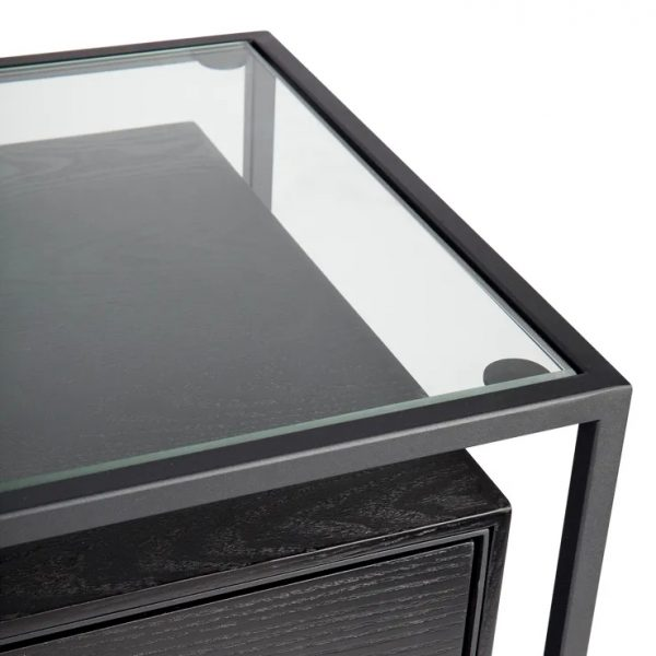 Vogue 3 Chest of Drawers Black Top View