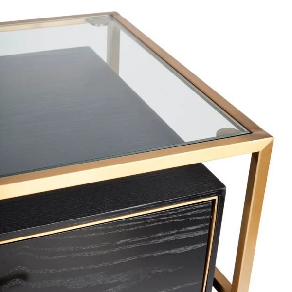 Vogue 3 Chest of Drawers Gold Top View