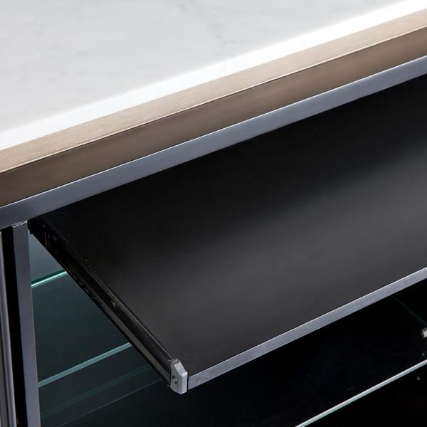 Calile Bar Counter For Home Black Close Up Tray