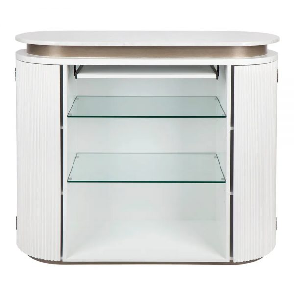 Calile Bar Counter For Home White Back