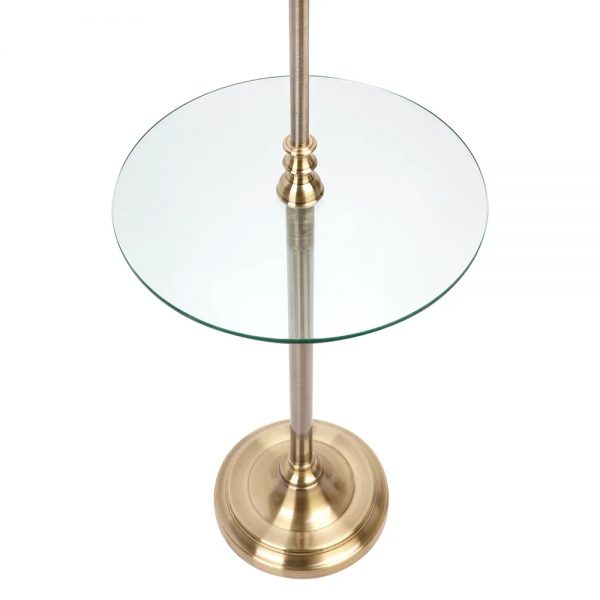 Sully Floor Lamp With Side Table Close Up Base