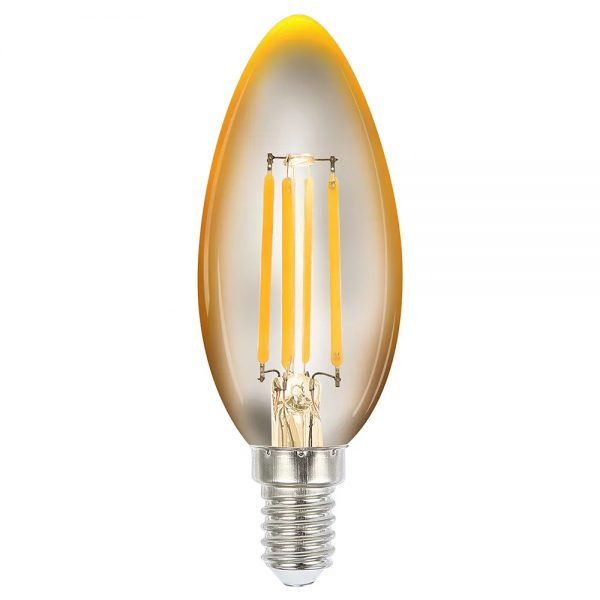 globe led candle 4w 2200k amber e14 dimmable