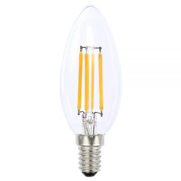globe led candle 4w 2700k clear e14 dimmable
