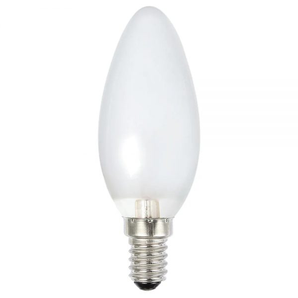 globe led candle 4w 2700k pearl e14 dimmable