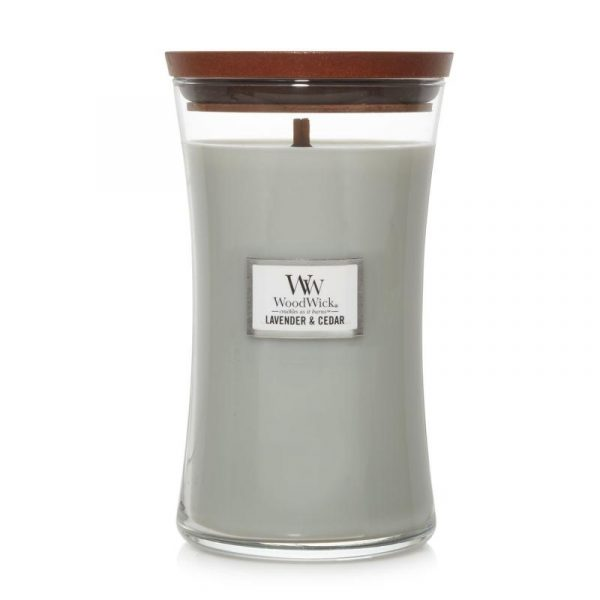 WoodWick Lavender and Cedar Candle Soy Candle WW1666272